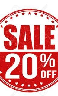 20% Off All listings for 3 days