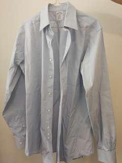 Brooks Brothers blue collared shirt 15 4/5
