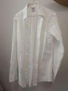 Brooks Brothers white collared shirt 15 4/5