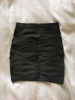 Dark grey body con skirt