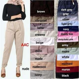 Baggy pants ready warna coklat brown
