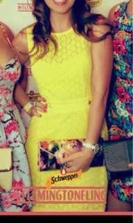 Karen Millen yellow corporate to party dress