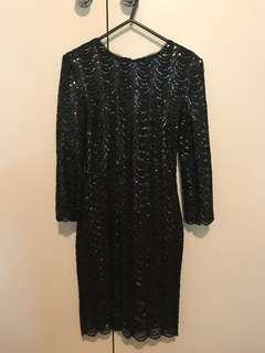 Bariano Black sequins sparkle dress