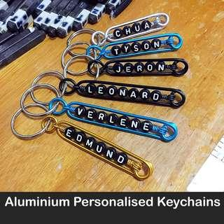 🚚 Aluminium Personalised Keychains / Dangles (Wirecraft fob customised token gift Children's Day Teacher's Valentine Graduation Raya Christmas) [uncle anthony] FOLLOW THIS LINK B4 U CHAT TO ORDER: 👉 Http://carousell.com/p/101405144