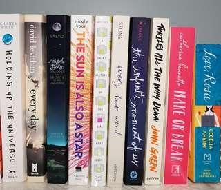 YA Books - Read once
