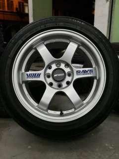 te37 15 inch sports rim saga flx tyre 70%