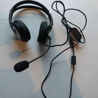 Headset stereo with Microphone Microsoft Brand, used