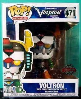 Voltron 6 inch funko pop metallic