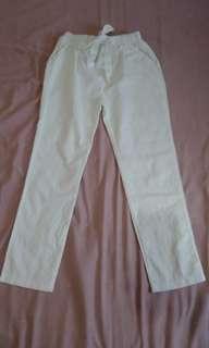 White candy pants