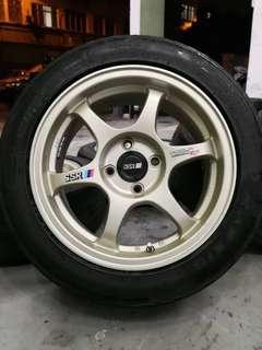ssr type c-rs 15 inch sports rim bezza tyre 70%