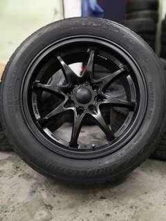 ce28 15 inch sports rim vios tyre 80%