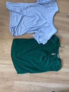 Tops and skirt $3 each