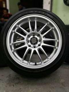 rays re30 16 inch sports rim satria neo tyre 70%