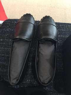 Authentic new Chanel lambskin loafers
