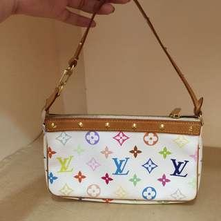 Authentic preloved louis vuitton pochette multi colored