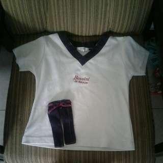 Baju kaos cantik garis2 bossini girls original branded