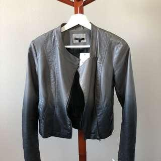 Theory Women's Distressed Moto Leather Jacket Size S