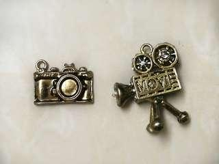 Limited vintage movie camera book charms