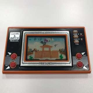 Vintage 1982 [Fire Attack] Nintendo Game & Watch LCD Handheld Game