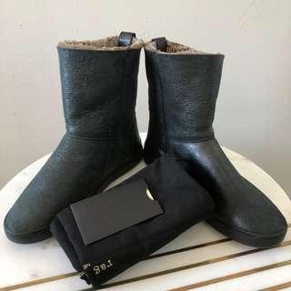 Rag & Bone Kali Sheepskin Sneaker Boots Size 40