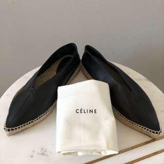 Celine Babouche Leather Espadrilles Size 40