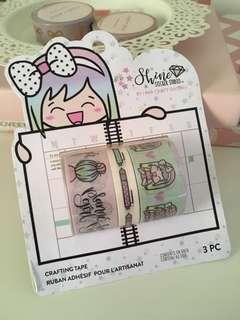shine planner washi tape set