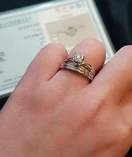 WG Engagement and Wedding Ring Set