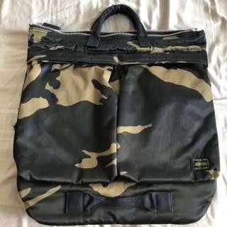 🚚 KURA CHUKA YOSHIDA PORTER JAPAN 2 way helmut bag in counter shade