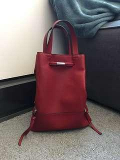 ZARA bucket bag backpack