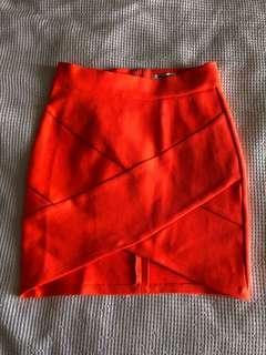Neon bandage skirt