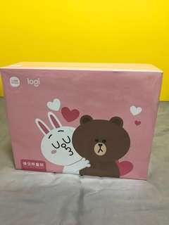 Logitech Line Gift Box Brown & Cony滑鼠套裝