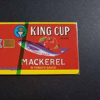 Malaysia Phone Card mint KING CUP MACKEREL