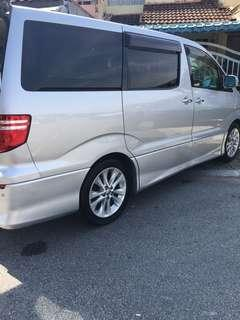 TOYOTA ALPHARD VELLFIRE FOR RENT