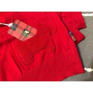 🚚 Scottish house 紅色可愛口袋短袖