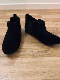 Black Suede Black Boots by Rubi