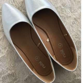 Rubi from Cotton On Silver Flat Shoes