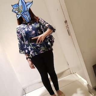 HQ Floral Sheer Top