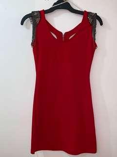 Worn Once Red Mini Dress
