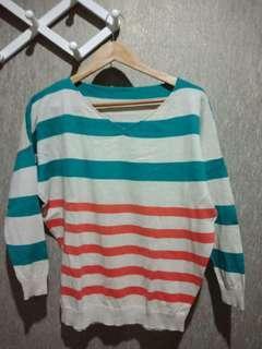 Earth Colour Stripes Sweater