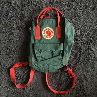 FJALLRAVEN Kanken Mini Forest Green - Peach Pink (Backpack)