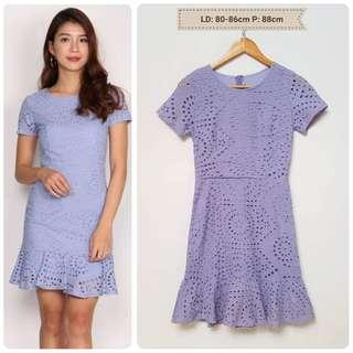 Eyelet Lilac Dress