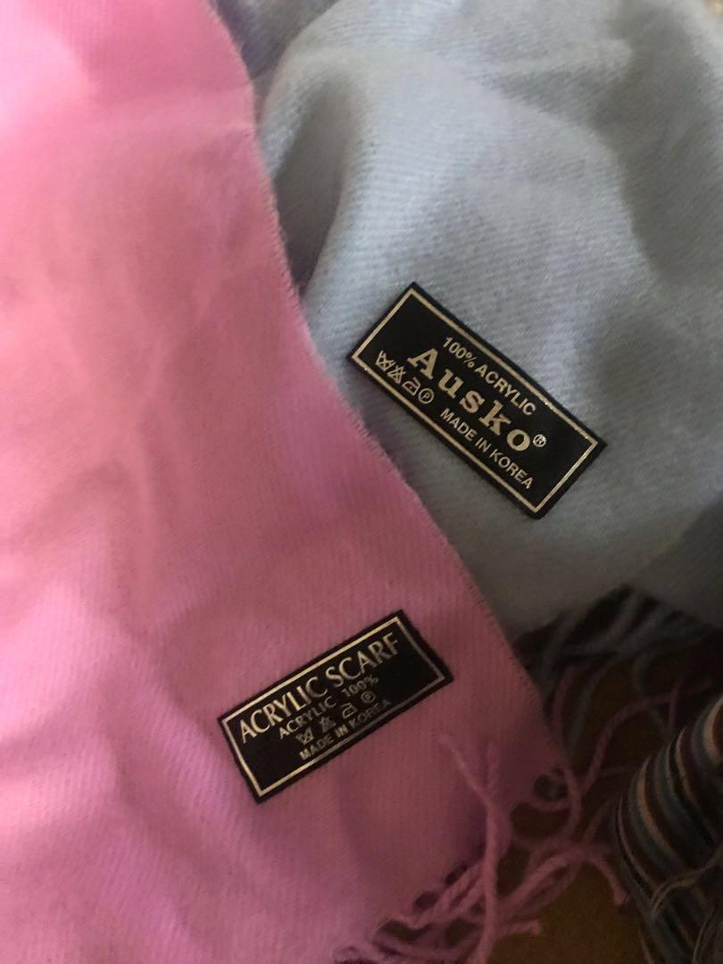 100% acrylic scarfs