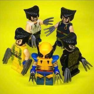 X-Men: Logan Wolverine set - Marvel Heroes Lego Inspired Mini Figures