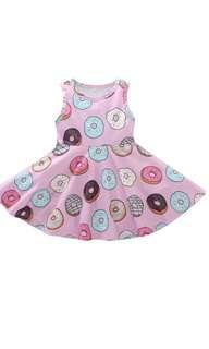 🚚 PO donut design kids dress brand new size 80-120cm