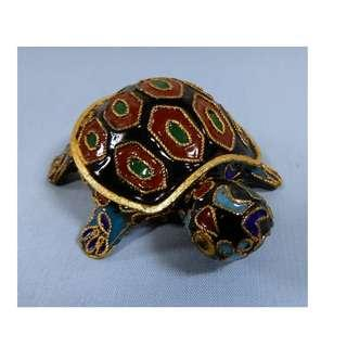 Vintage rare cloisonne turtle tortoise hand crafted Beijing circa: 1960s