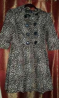 Animal Pattern Trench Coat