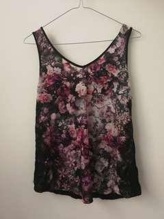 Forever New floral singlet tank size 8