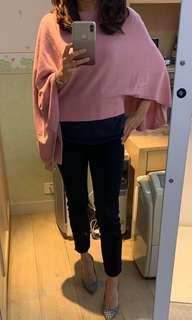 Pink cape sweater