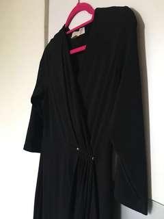Super sale! ❤️Michael Kors Black pleated flapover dress