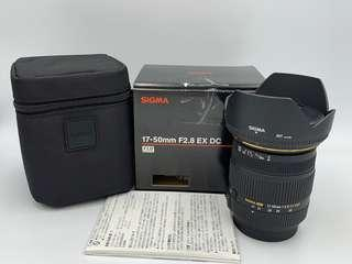 🚚 SIGMA 17-50mm F2.8 for Sony 大光圈 人像鏡 二手